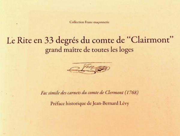 Le rite en 33 degrés du Comte de Clairmont